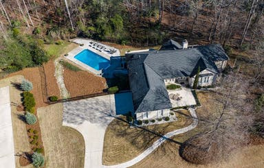 Aerial View Of .95 Acre Lot