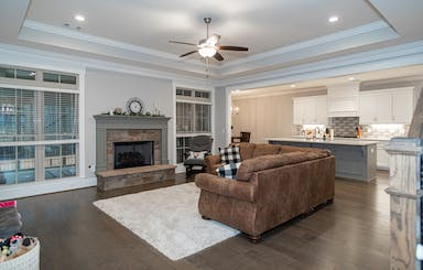 Open Great Room With Gas Fireplace